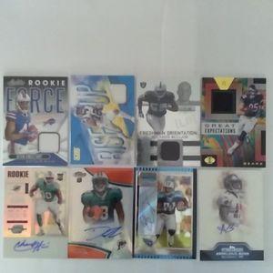 2/$20.- 8 Card NFL LOT - 4 Autos & 4 Relics